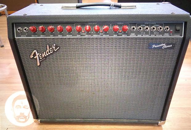 Fender Princeton Chorus Red Knob 2x10 Combo Amp w/ footswitch