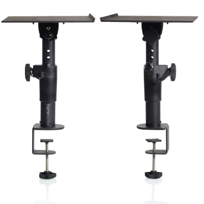 Gator Frameworks Clamp-On Desktop Monitor Stand (Pair) - GFW-SPK-STMNDSKCMP