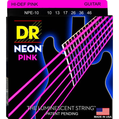 DR Neon Electric Strings 10-46 Pink