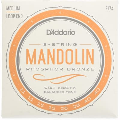 D'Addario EJ74 Medium Phosphor Bronze Mandolin Strings