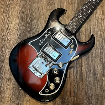 Vintage Custom Kraft Beat Blaster 1965-1968 red sunburst - Valco,/Supro USA-made guitar - super cool for sale