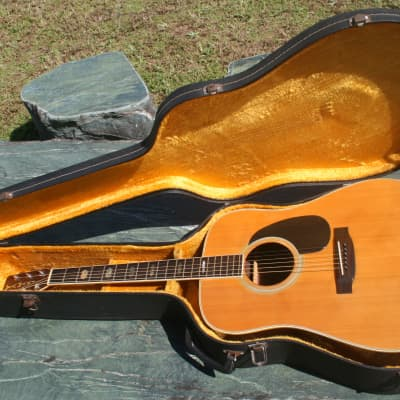 yamaki 140 Dreadnought Guitar Mid '70 Natural+Hard Case FREE for sale