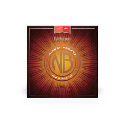 D'Addario NBM1140 Nickel Bronze 11-40 Medium Mandolin Strings 5 Sets