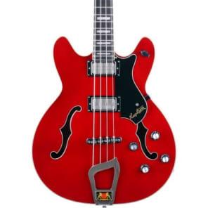 Hagstrom Viking Bass, Cherry Red, Maple Body & Neck,  Long Travel Tune-O-Matic Bridge, Free Shipping for sale