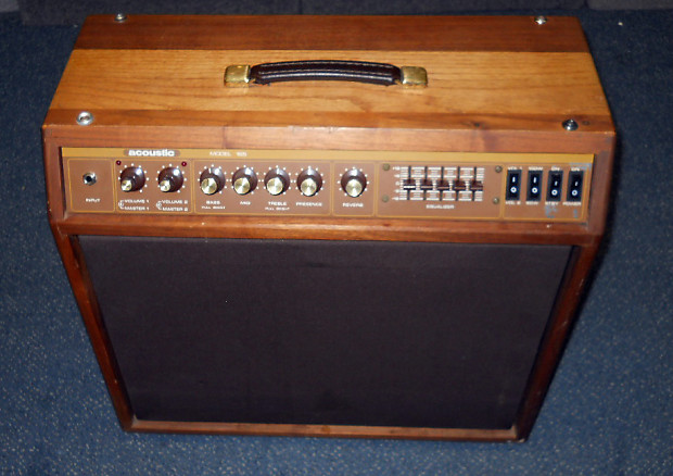 Vintage 1980 Acoustic 165 60w 100w Tube Fet Guitar Combo