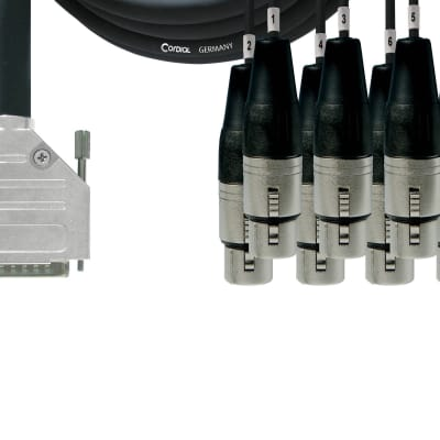Cordial 8-Channel Analog Tascam D-Sub 25 to XLRF Breakout 10' Cable - CCFD3DFT