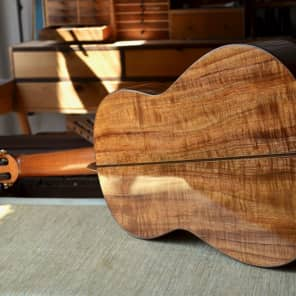 Tsiorba Koa & European Spruce Flamenco Guitar--Negra for sale
