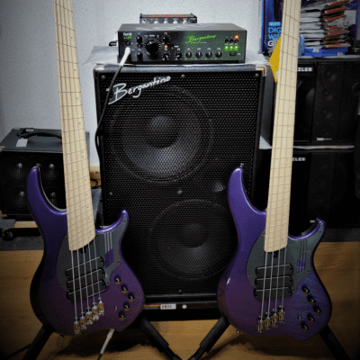 Dingwall NG3 Purple Metallic Matched Pair 4-string & 5-String Bass free ship with Dingwall Gigbag for sale