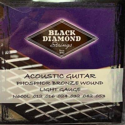 Black Diamond 600 Series Phosphor Bronze Acoustic Guitar Strings - N600L Acoustic Phos Light .012P.0 for sale