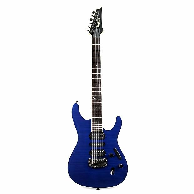 used ibanez prestige sv5470f hsh electric guitar w flame reverb. Black Bedroom Furniture Sets. Home Design Ideas