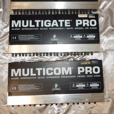 Behringer XR 4400 MDX 4400 4-Channel Expander Gate dynamic processor 3 UNITS