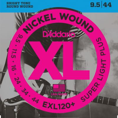 D'Addario EXL120+ Nickel Wound Electric Guitar Strings Super Light Plus 9.5-44