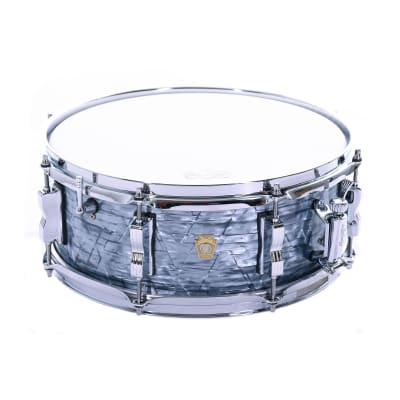 """Ludwig 5.5x14"""" Legacy Mahogany Jazz Fest Snare Drum, Sky Blue Pearl"""