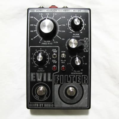 Used Death By Audio Evil Filter Fuzz Guitar Effects Pedal!
