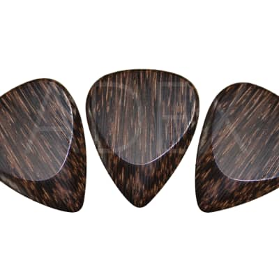 Palm wood classic 351 guitar pick plectrum pack of 3 acoustic electric exotic picks