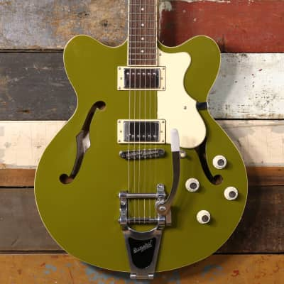 Hofner CT Verythin Guitar Gloss Olive Green for sale