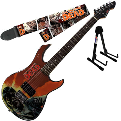 Peavey Walking Dead Governor Red Guitar with Survivors Strap and Stand