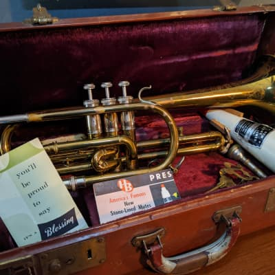 Blessing Artist Cornet 1950 Brass