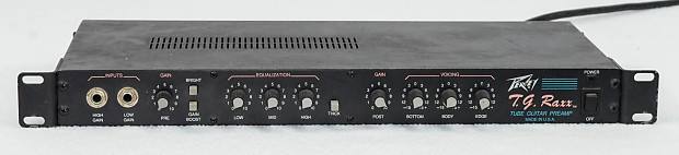 peavey tg raxx rack mount tube guitar preamp reverb. Black Bedroom Furniture Sets. Home Design Ideas