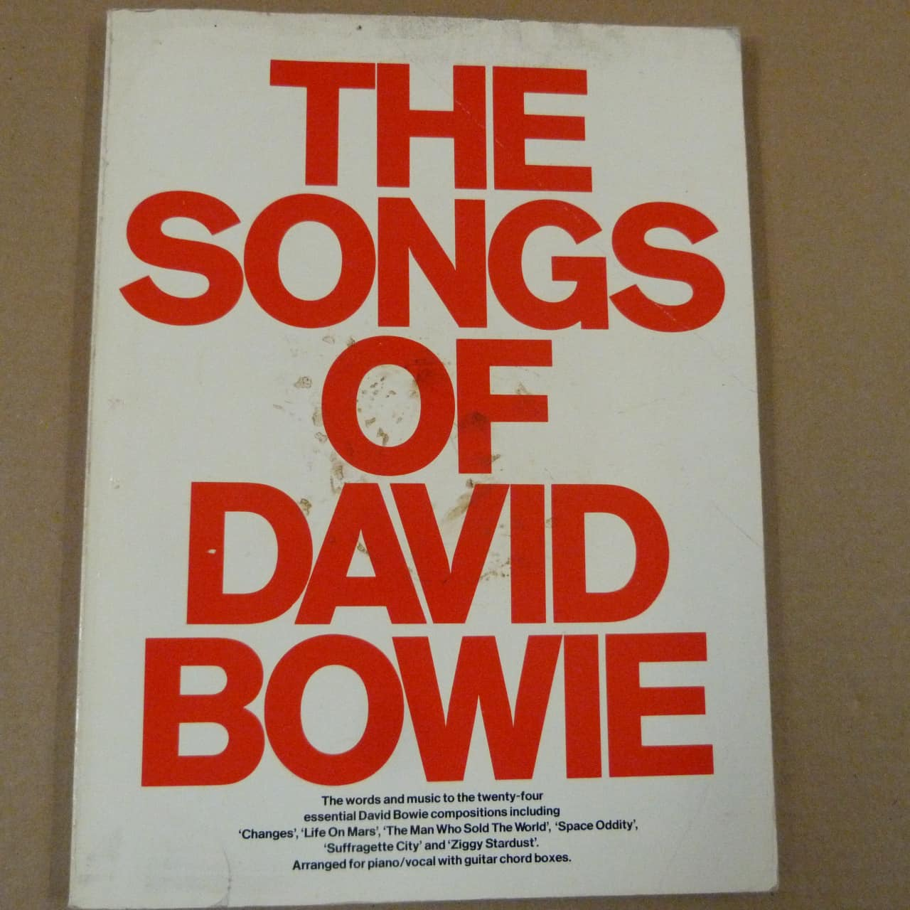 Songbook The Songs Of David Bowie 1977 Reverb