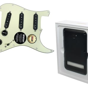 Pre Wired Fishman Fluence Loaded Pickguard for Fender Strat Stratocaster MG/BK with Battery Pack