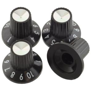 Fender 005-4419-049 D-Shaft Push-On Skirted Amp Knobs  (4)