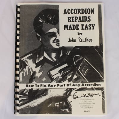 Used Instructional Book: Accordion Repairs Made Easy by John Reuther