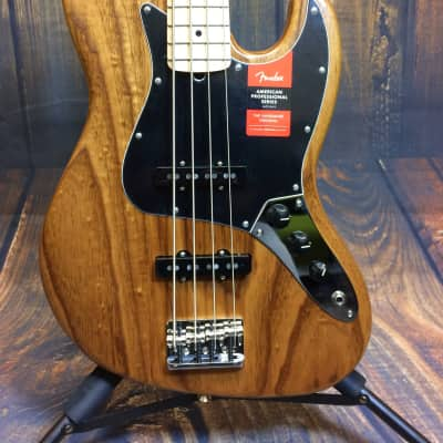 Fender Fender Limited Edition American Professional Jazz Bass Roasted Ash 2018 Maple Neck US18007669 for sale