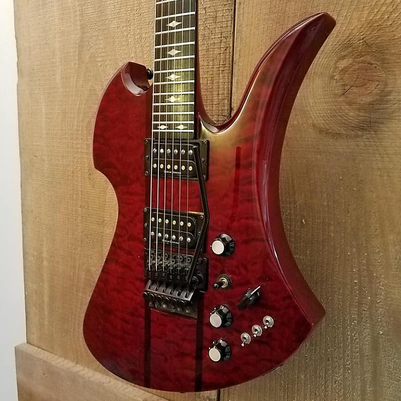 b c rich mockingbird st electric guitar transparent red reverb. Black Bedroom Furniture Sets. Home Design Ideas
