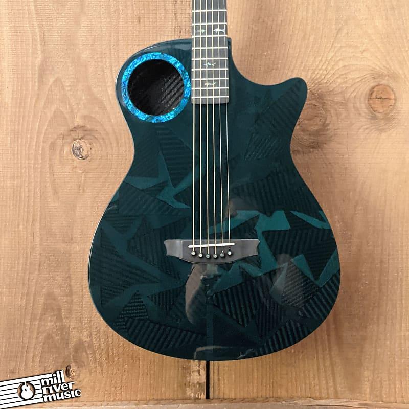 Rainsong Black Ice 25 Year Blue HI Carbon-Fiber Acoustic Electric Guitar w/HSC