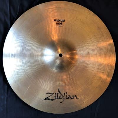 "Zildjian  A 18"" Medium Ride/Crash 70's-80's"
