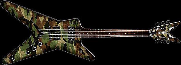dean dimebag darrell camouflage ml electric guitar new dime reverb. Black Bedroom Furniture Sets. Home Design Ideas