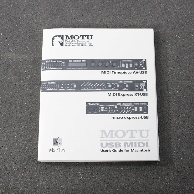 Owner /user guide manual for the motu midi interface xt express.