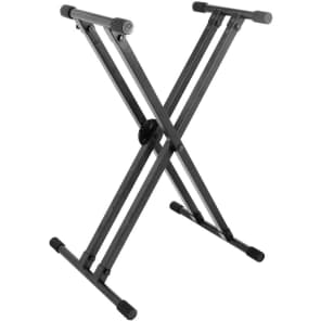 On-Stage Lok-Tight Double-X Keyboard Stand with quikSQUEEZE Trigger