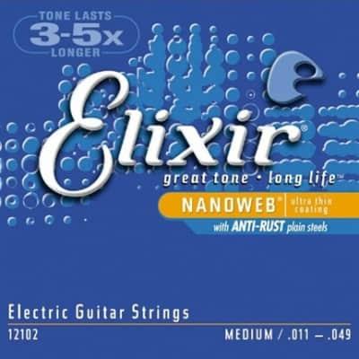 Elixir Nanoweb Electric Guitar Strings - Medium
