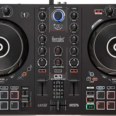 Hercules DJControl Inpulse 300 controller with included DJUCED software