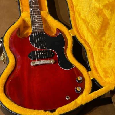 Gibson SG Junior Reissue Lightning Bar Cherry Red VOS NH