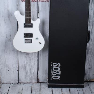 Sozo Z Series Z7CUSTOM Z7 Custom Electric Guitar Snow White with Hardshell Case for sale