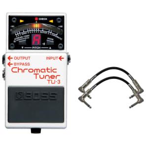 Boss TU-3 Chromatic Tuner Pedal Bundle White