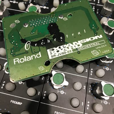 Roland SR-JV80- Orchestral Collection Expansion Board 1990s Green