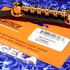 Genuine Gretsch Space Control Bridge Assembly, Gold With Ebony Base, 0484GA 0060889000 image