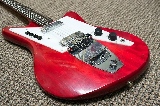 Galanti Grand Prix Electric Guitar 1960s Red Reverb
