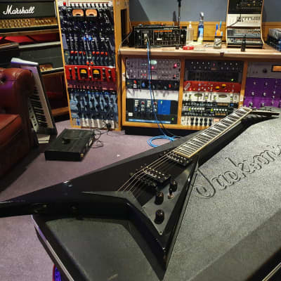 Jackson USA Randy Rhoads RR1T Black RR1 String-Thru American Flying V Guitar 2H RR1-T for sale