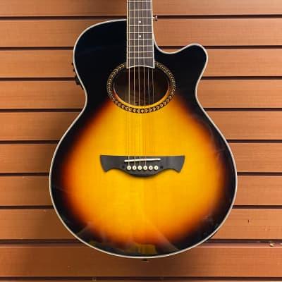 Tagima Dallas-T-SB-EQ Acoustic Electric Guitar in Drop Sunburst for sale