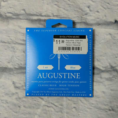 Augustine .028/.045 Classic Blue High Tension Classical Guitar Strings