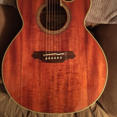 Takamine EF508KC Figured Koa Cutaway Acoustic-Electric Guitar