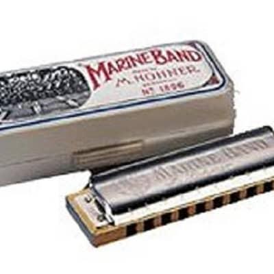 Hohner 1896BX-A Marine Band 1896 Classic Harmonica - Key of A