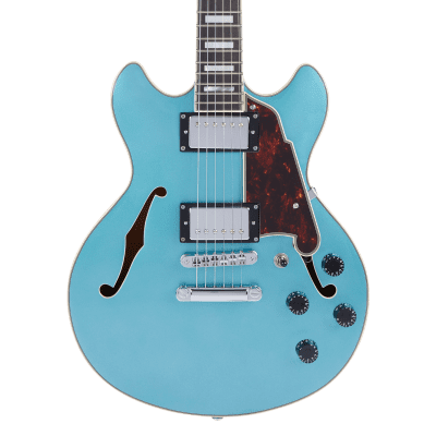 D'Angelico Premier Mini DC - Ocean Turquoise w/Gig Bag