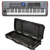 Novation Impulse 61 Key USB MIDI Controller Keyboard with Hard Case