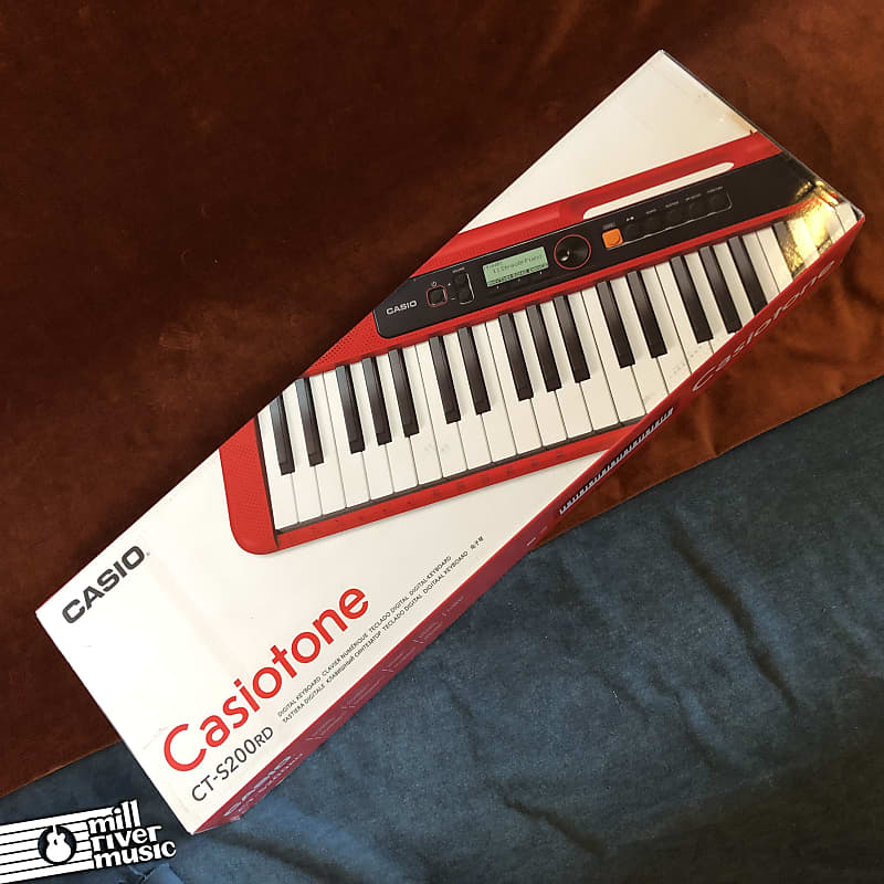 Casio CT-S200 Casiotone 61-Key Portable Keyboard Red